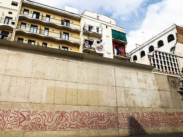 Mural de la sida (Keith Haring, 1989; 2014)