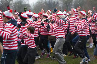 Where's Wally Fun Run, People in London exhibition