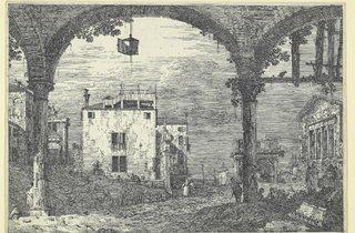 Canaletto ('Portico with lantern', 1741-1744)