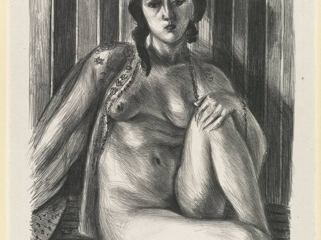 Henri Matisse ('Seated nude woman, with tulle blouse', 1925)