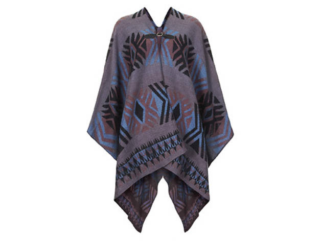 Topshop Aztec print cape, $64, at topshop.com