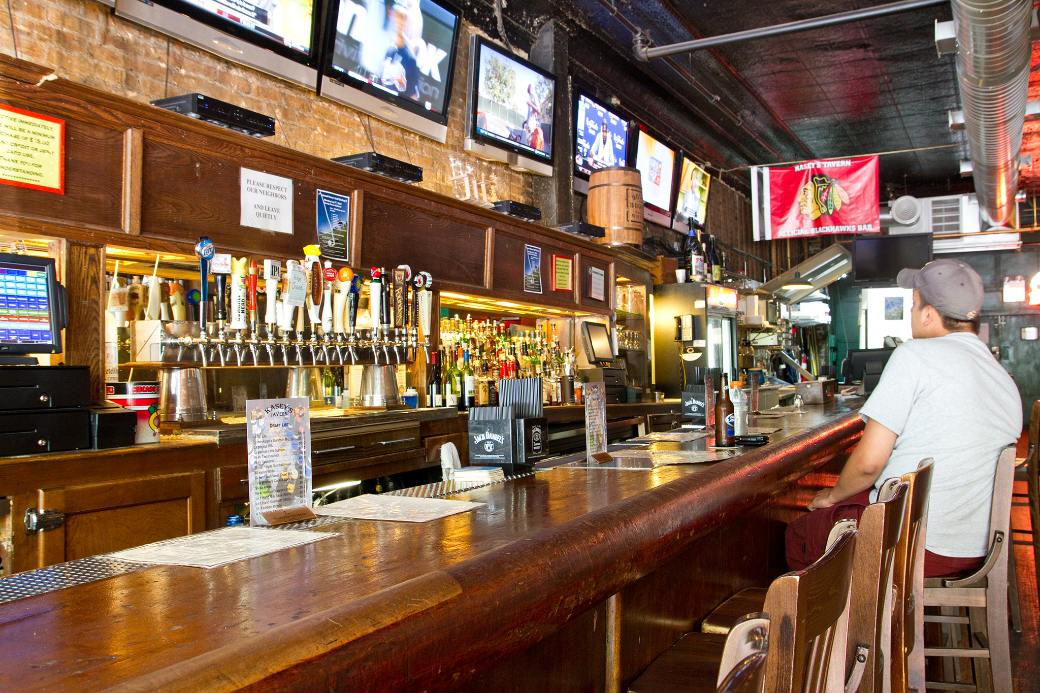 Kasey's Tavern is one of the best South Loop bars.