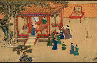 (Handscroll, ink and colours on silk. Xuande period, 1426–1435. Anonymous. © The Palace Museum, Beijing)