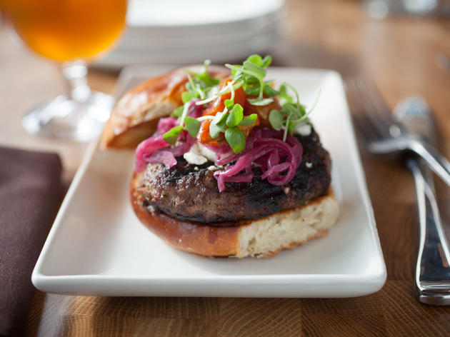 <p>Promontory's menu includes a lamb burger.</p>