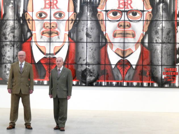 (Exposition Gilbert & George à la galerie Ropac, septembre 2014 / © TB / Time Out)