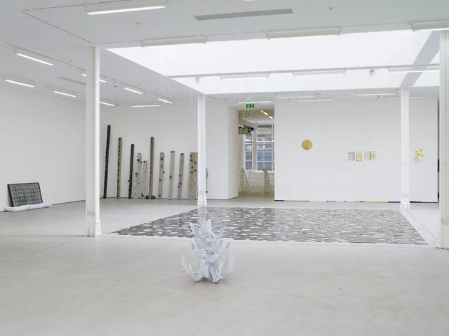 Adriano Costa (Installation view of 'Touch me I am geometrically sensitive' at Sadie Coles)