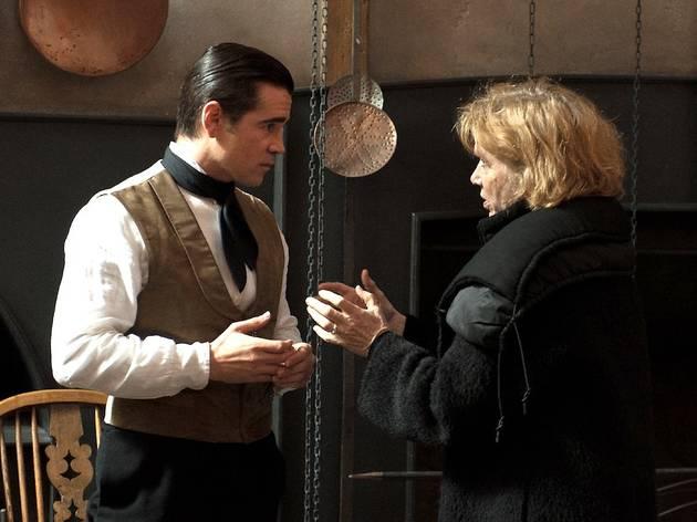 Liv Ullmann et Colin Farrell, sur le tournage de 'Mademoiselle Julie'