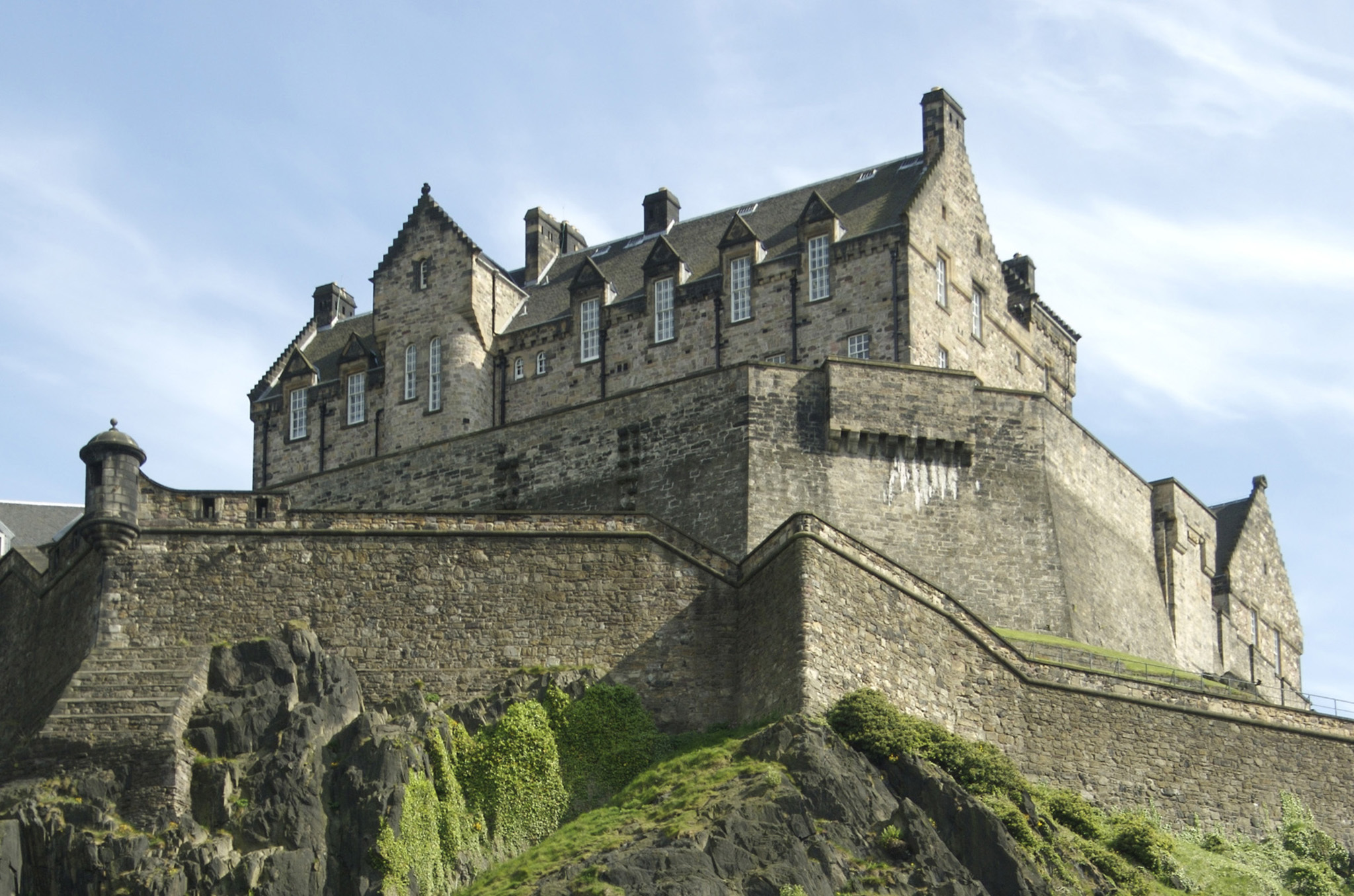 Enjoy the view from Edinburgh Castle