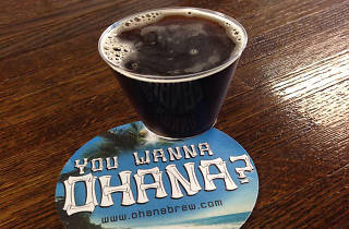 A 4oz. pour at Ohana Brewing Co.'s tasting room in Alhambra.