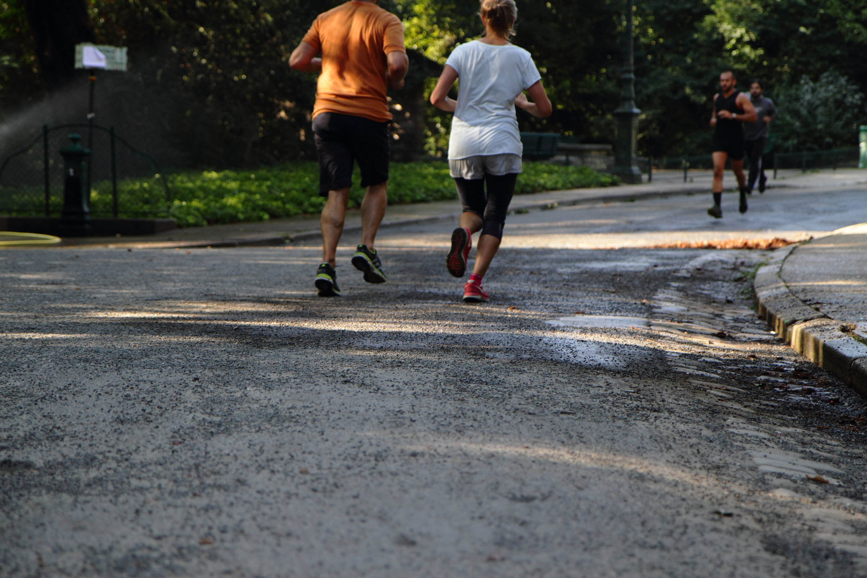 Photos : un footing aux Buttes Chaumont