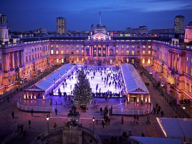 Skate at Somerset House, ice rink