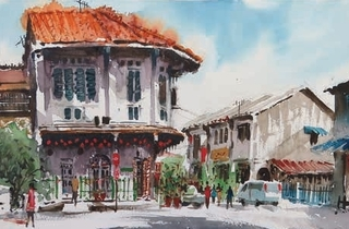 Nostalgic Penang: Watercolour Painting by Louis Gan