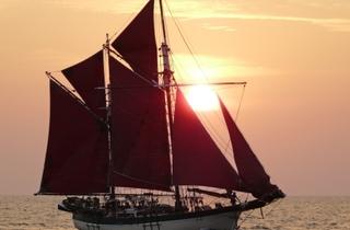 Historic Vega vessel at Straits Quay