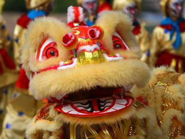 Lion dance performances in Penang