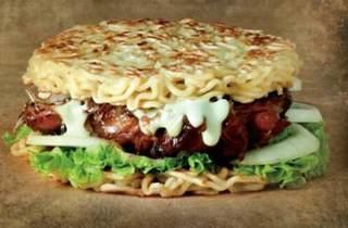 Ramen burger at Javrie's Restaurante