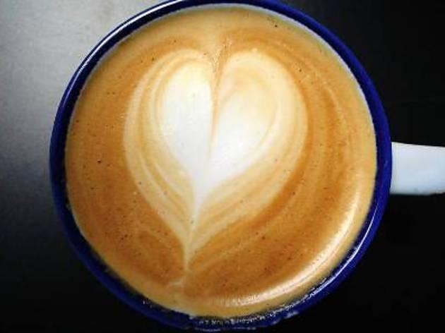 Coffee cupping session at Kaffa Espresso Bar