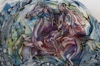 Maga (Francoise Morin) solo painting exhibition