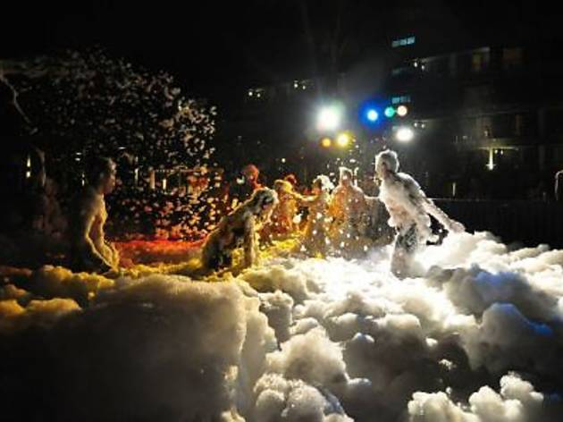 White Christmas Eve Foam Party at Hard Rock Hotel