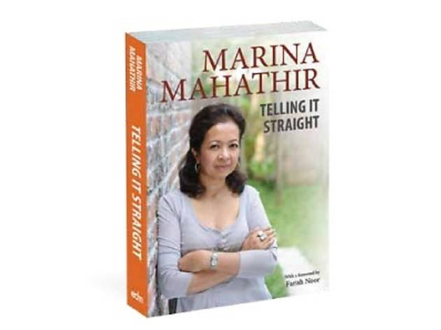 'Telling it Straight' by Marina Mahathir at Borders Queensbay