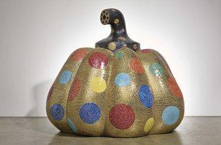 Yayoi Kusama ('Starry Pumpkin Gold', 2014)