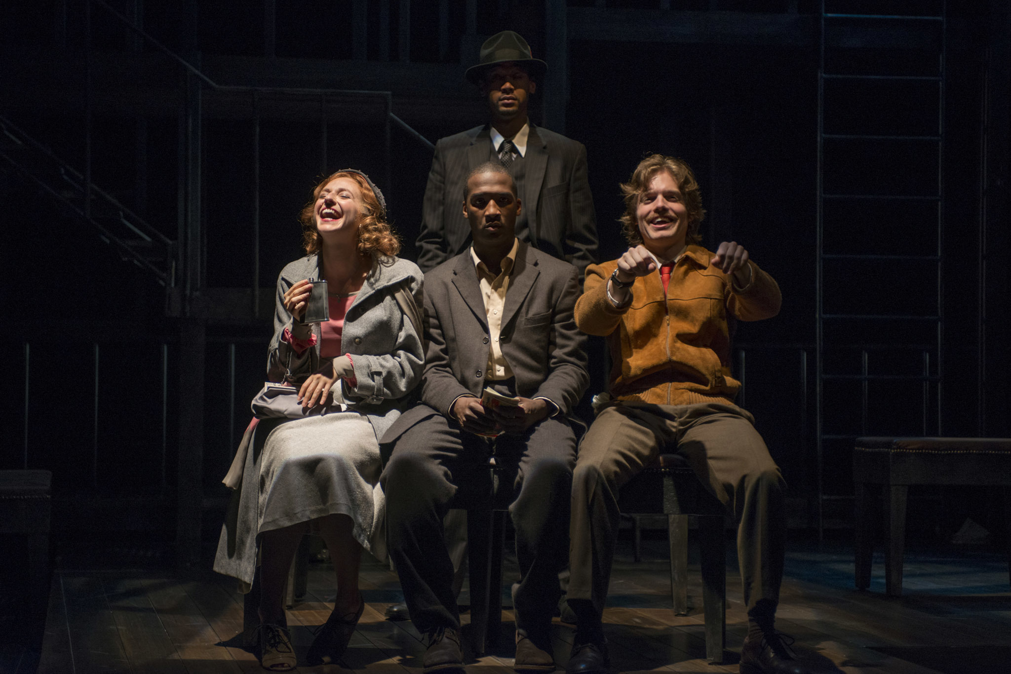 Nora Fiffer, Jerod Haynes, Eric Lynch and Jeff Blim in Native Son at Court Theatre