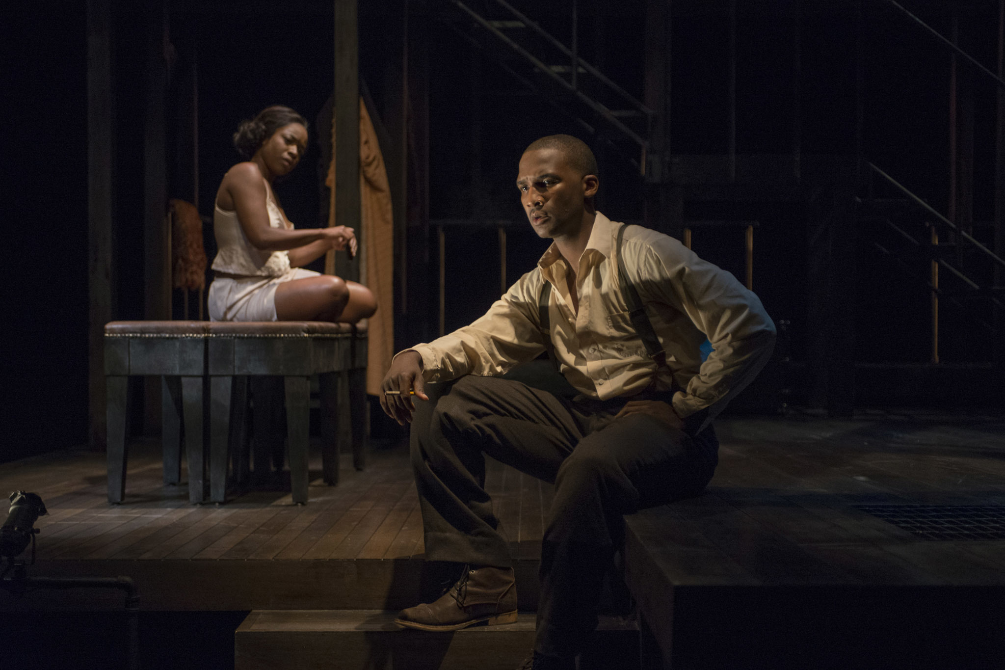Tracey N. Bonner and Jerod Haynes in Native Son at Court Theatre