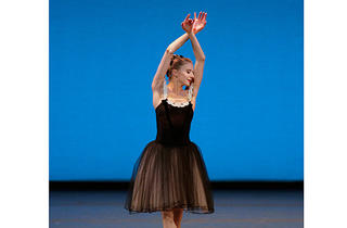 Sterling Hyltin inMozartiana by George Balanchine at New York City Ballet