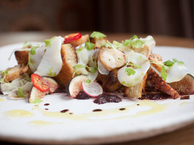 Sepia and octopus is on the menu at Acanto, one of the best restaurants in the Loop.