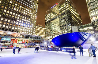 London's first LED animated ice rink is now open