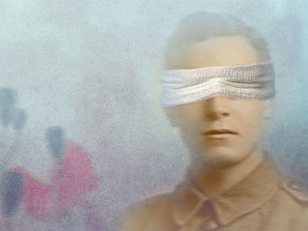 Blindfolded soldier