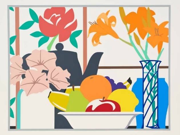 'Still life with lilies and fruit', Tom Wesselmann
