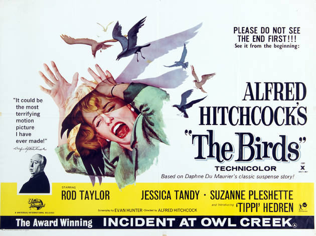 (Poster for Alfred Hitchcock's The Birds, 1963. On loand from the BFI National Archive)