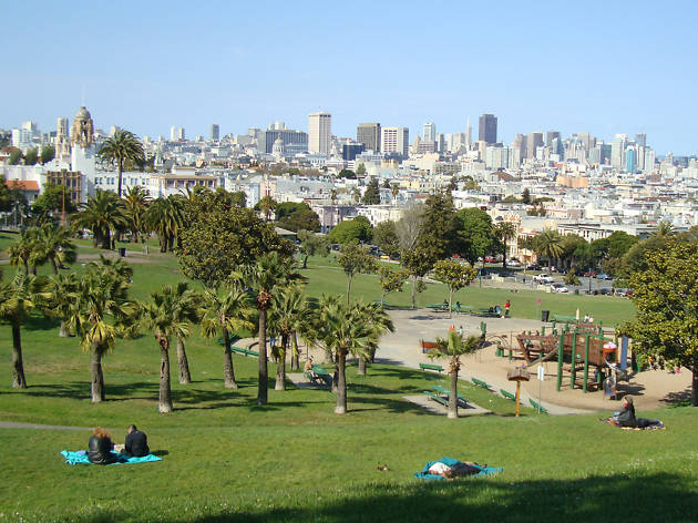 Dolores Park in the Mission District