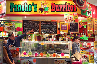 Pancho's Burritos, Manchester, Counter