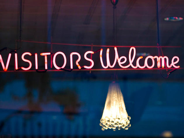 Welcome sign at Max's
