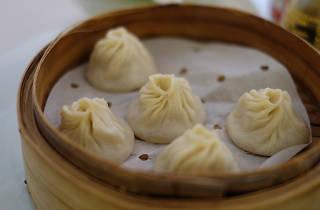 Soup dumplings at Yank Sing