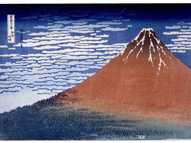 (Katsushika Hokusai, 'Vent du sud, ciel clair [le Fuji rouge]', de la série 'Trente-six vues du mont Fuji', c. 1830-1834 / © The British Museum, Londres, dist. Rmn-Grand Palais)