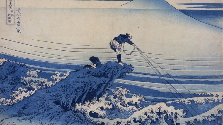 Katsushika Hokusai, 'Kajikazawa dans la province de Kōshū', de la série 'Trente-six vues du mont Fuji', c. 1830-1834