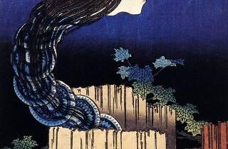 (Katsushika Hokusai, 'Manoir aux assiettes', de la série 'Cent contes de fantômes', c. 1831-1832 / © Museum für Kunst und Gewerbe, Hambourg)