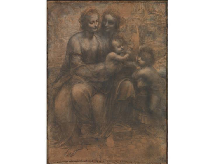 'The Burlington House Cartoon' - Leonardo da Vinci