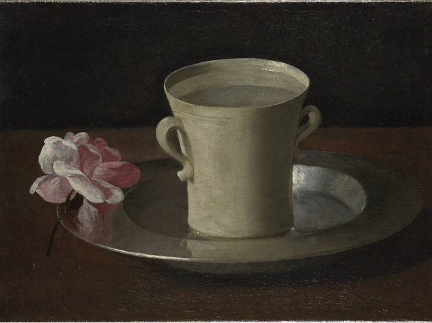 A cup of water and a rose, Francisco de Zurburán