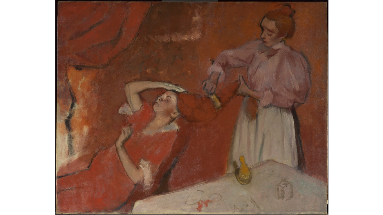 'Combing the Hair' - Hilaire-Germain-Edgar Degas
