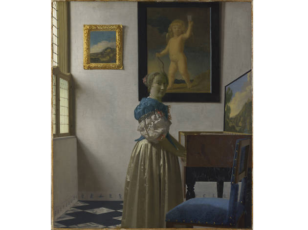 A Young Woman Standing at a Virginal, Johannes Vermeer