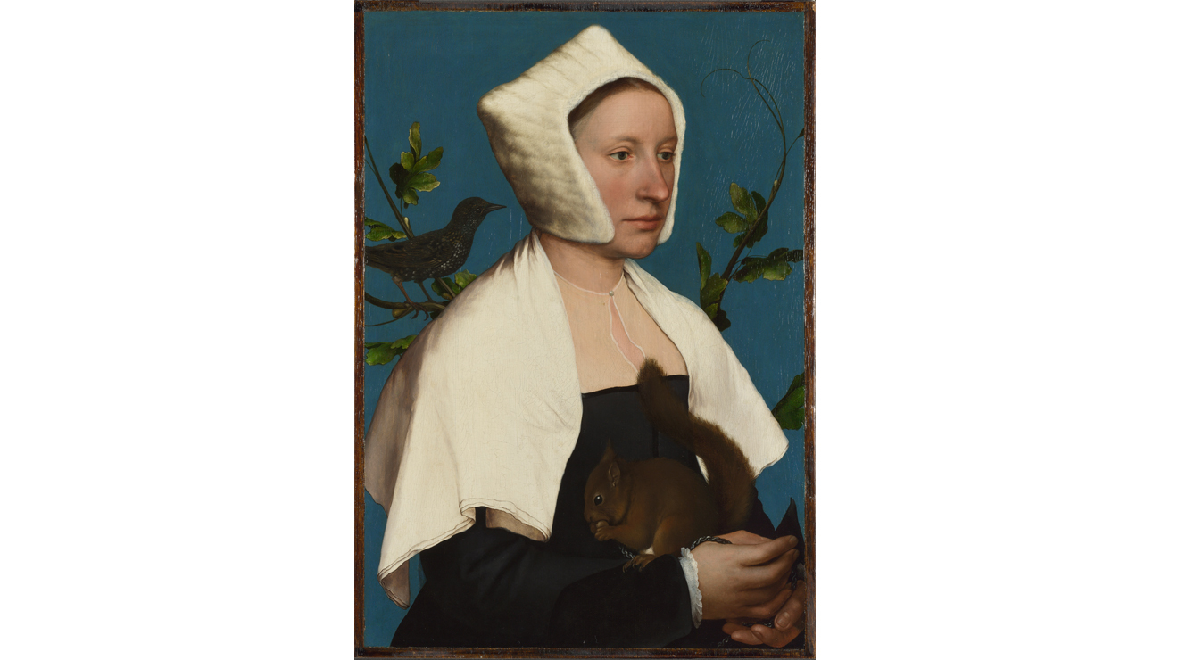 A Lady with a Squirrel and a Starling, Hans Holbein the Younger