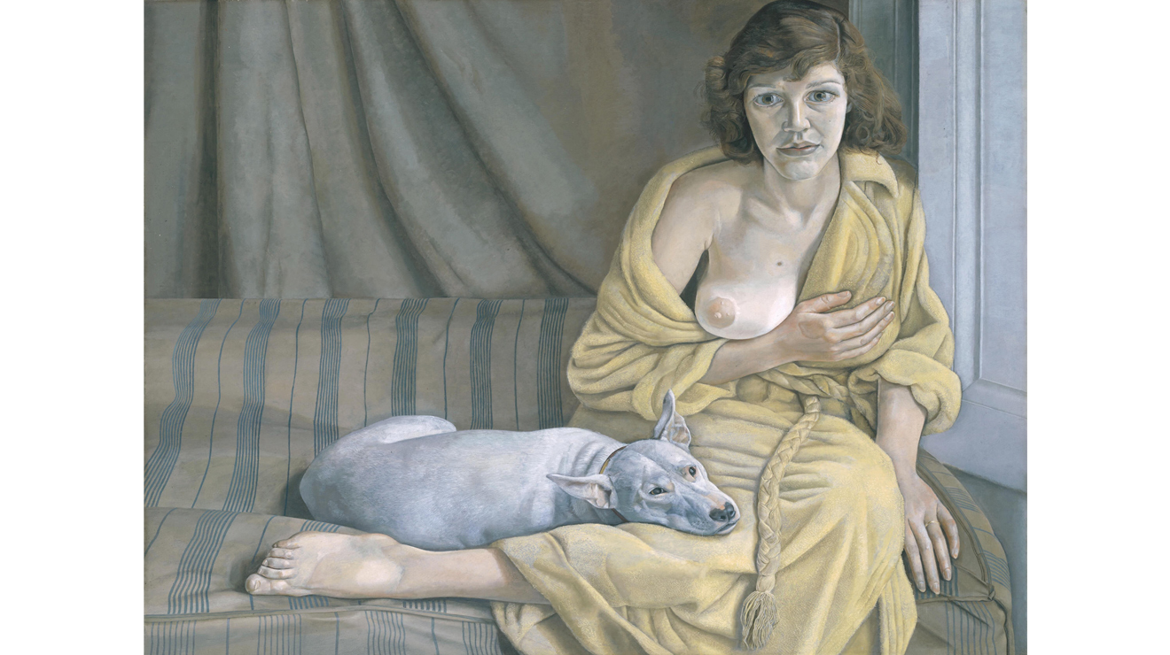Girl with a White Dog, Lucian Freud