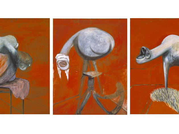 Three Studies for Figures at the Base of a Crucifixion' - Francis Bacon