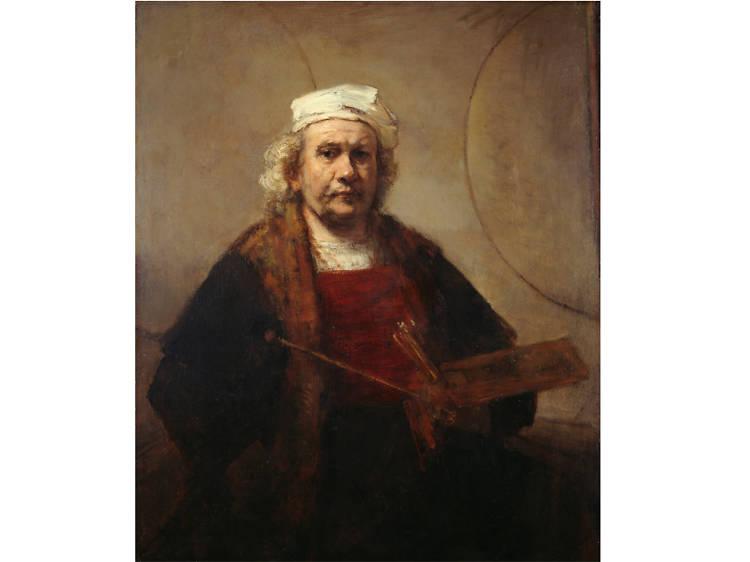 'Self-Portrait with Two Circles' - Rembrandt van Rijn