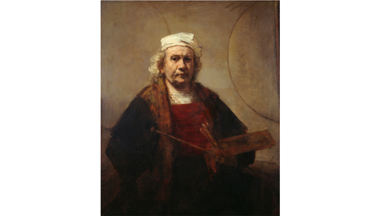 'Self-Portrait with Two Circles' - Rembrandt van Rijn