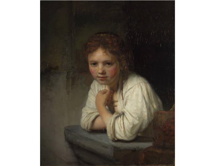 'Girl at a Window' - Rembrandt van Rijn