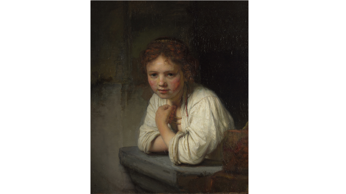 'Girl at a Window' - Rembrandt van Rijn